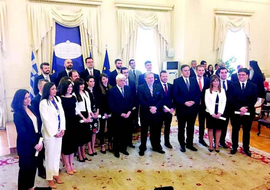 Ορκωμοσία της νέας σειράς Ακολούθων Πρεσβείας με την παρουσία του Προέδρου της Δημοκρατίας