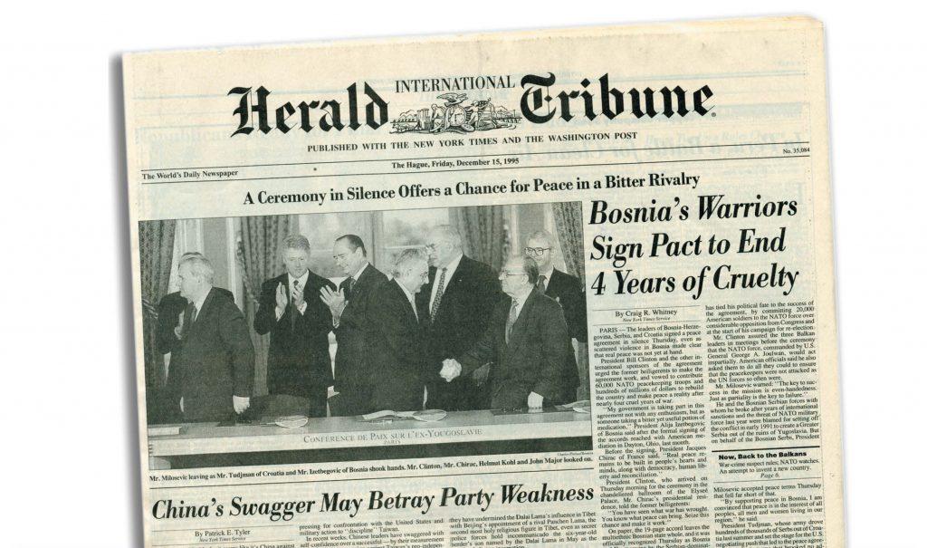 Η Συμφωνία του Ντέιτον για την ειρήνευση στη Βοσνία-Ερζεγοβίνη